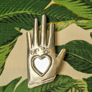 "Heart Mirror ""GLOVED"" was £8 now £6"