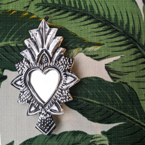 "Mexican Heart Mirror ""Pineapple"" was £8 now £6"