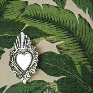 "Heart Mirror ""OYSTER"" was £8 now £6"