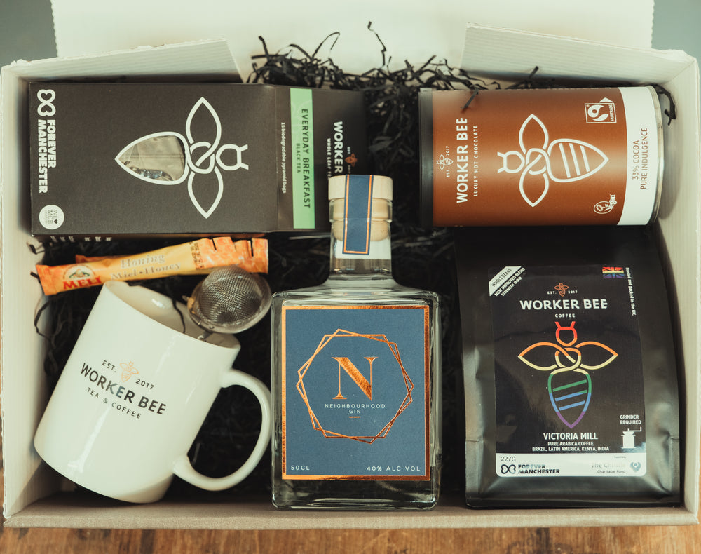 Christmas Gin Gift Box - Worker Bee MCR Tea & Coffee