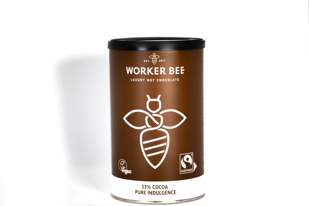 Luxury 33% Cocoa Hot Chocolate - 300g tin - Worker Bee MCR Tea & Coffee