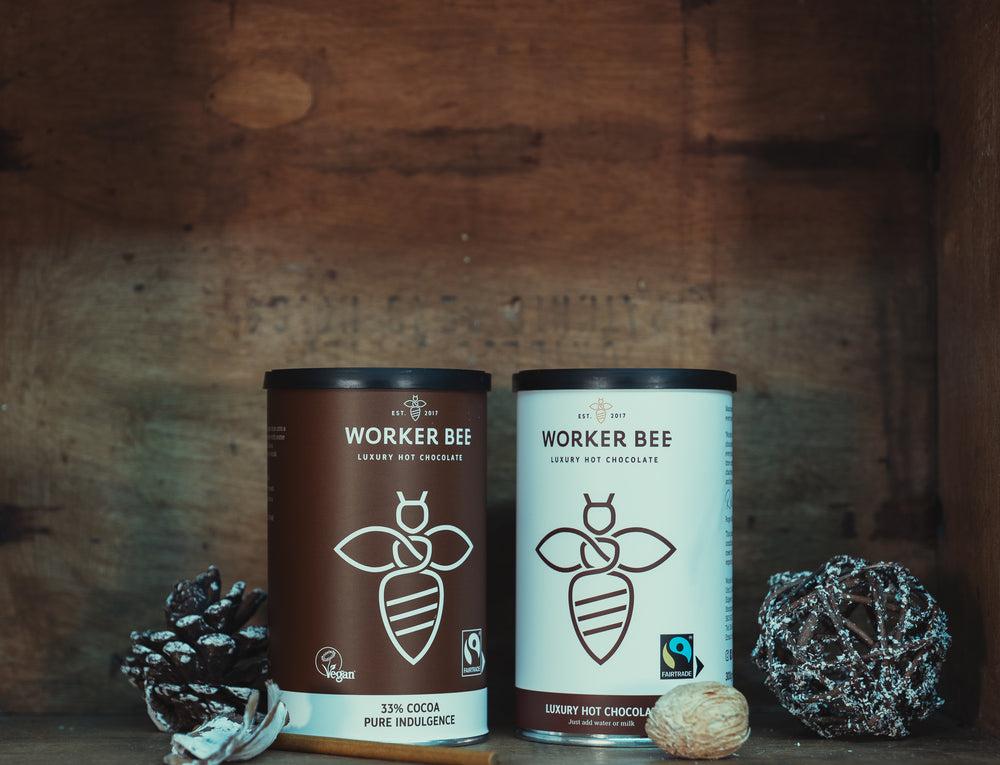 Load image into Gallery viewer, Luxury 33% Cocoa Hot Chocolate - 300g tin - Worker Bee MCR Tea & Coffee