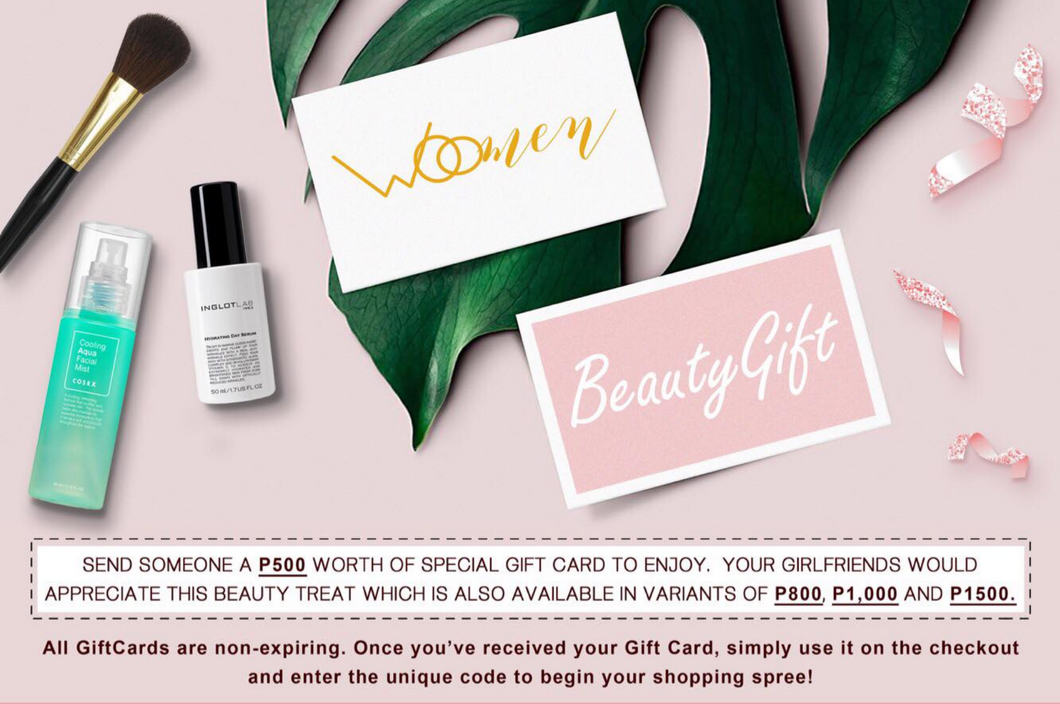 BEAUTY GIFT CARD