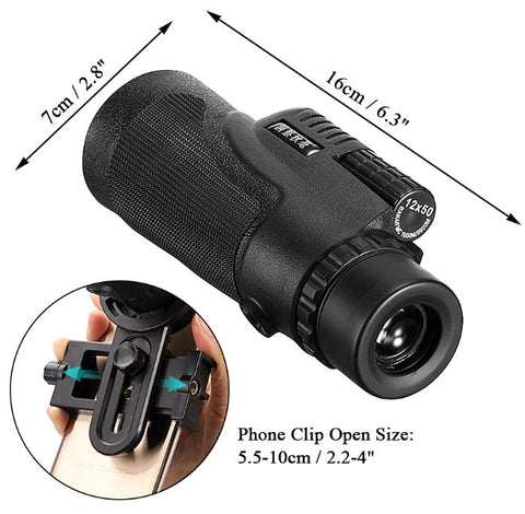 Universal Hd 12x50 Phone Telescope Camera Lens With Tripod