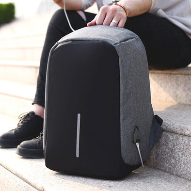 Anti-theft, Waterproof Backpack with USB Charge Port
