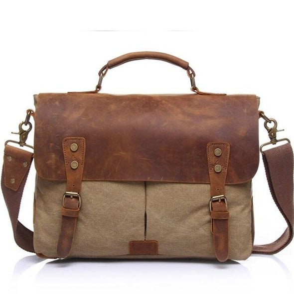 Canvas Vintage Luxury Messenger Bag