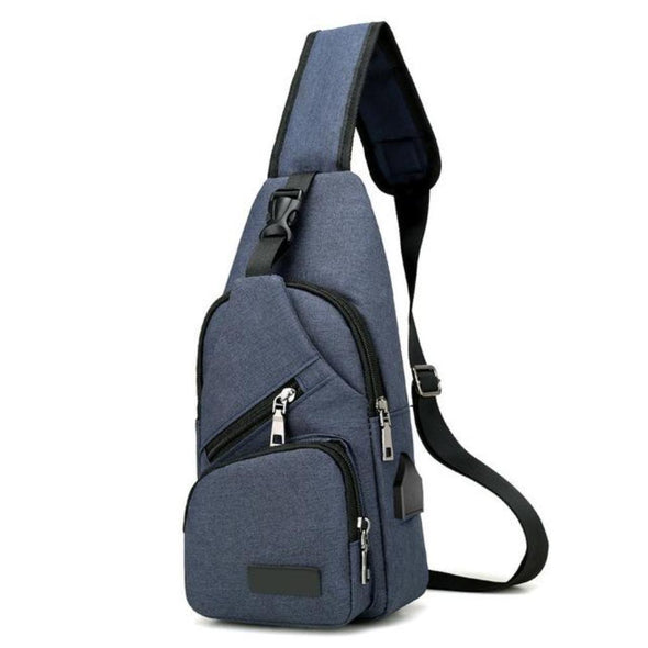 Waterproof Travel Sling Bag with USB Port-Readyprosupply-Readyprosupply