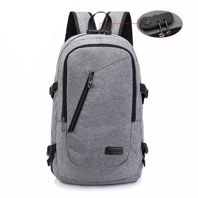 Anti Theft Backpack Password Locks Bag, USB Charging with Headphone Plug, for Business and Travel.