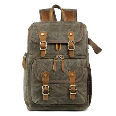 Canvas Waterproof Camera Shoulder Backpack