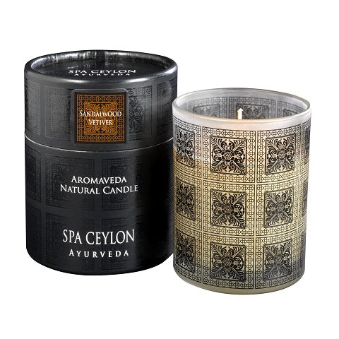 SANDALWOOD VETIVER - Aromaveda natural candle