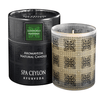 LEMONGRASS MANDARIN - Aromaveda Natural Candle with Paper Tube. Long lasting candle slow-burns for over 15 hours. Individually blended & hand poured, to ensure the soothing properties of the essential oils are present in every candle.