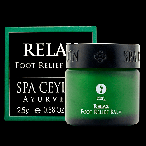 TRAVEL BALM TRIO-(H). RELAX - Foot Relief Balm:  Instant natural cooling & soothing relief from tired, over worked, swollen feet, foot pains & sprains. Gently soothes & relaxes the senses.