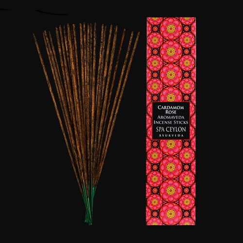 CARDAMOM ROSE - AROMAVEDA INCENSE STICKS