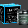 TRAVEL BALM TRIO-(H). HAPPY - Uplifting Balm:  Naturally refreshes & invigorates senses, promoting positive energies & happiness. Gently hydrates & uplifts the senses.