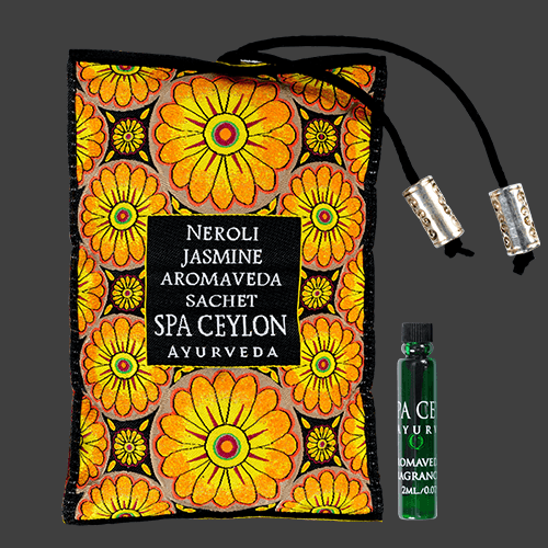 NEROLI JASMINE - Aromaveda Sachet, Place sachet in suitable location, preferably close to air vents, inside pillow cases or under drawer liners.