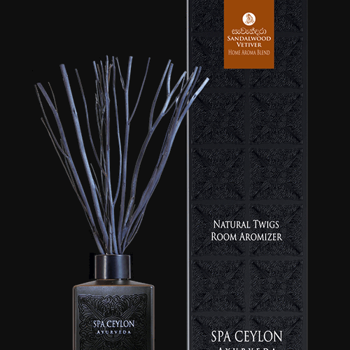 SANDALWOOD VETIVER - NATURAL TWIGS ROOM AROMIZER  - BLACK 150ml