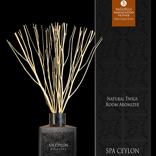 NATURAL TWIGS ROOM AROMIZER SANDALWOOD VETIVER - NATURAL 150ml. A decorative natural Room Aromizer combining dried natural twigs with pure essential oils & natural fragrance compounds.