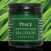 TRAVEL BALM TRIO-(H), PEACE - Soothing Balm: Instant natural cooling & calming relief from stress, headache, cold, chest congestion & minor pains. Gently hydrates & clarifies the senses.