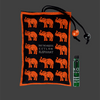 CEYLON SPICED SANDALWOOD - Elephant Aromaveda Sachet. Ideal to naturally fragrance cars, pillows, linen, bedding, drawers, wardrobes, suitcases & small interior spaces.