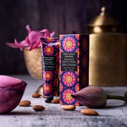 Spa Ceylon PINK LOTUS ALMOND  - Intensive Hand Cream