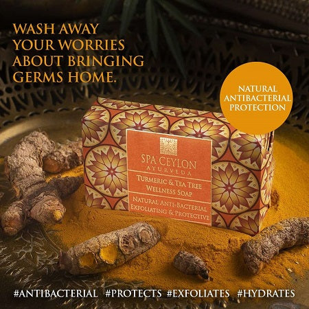 TURMERIC & TEA TREE - Anti-bacterial Exfoliating Wellness Soap 100g