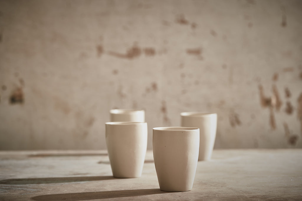 4 Porcelain Mug Set