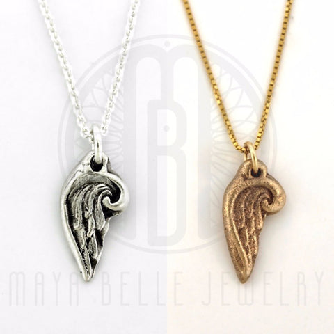 Angel Wing Charm Necklace - Maya Belle Jewelry