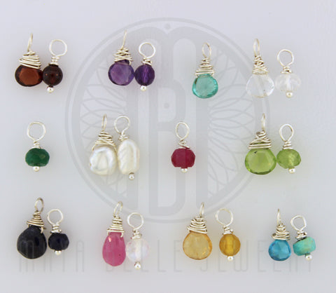 Add a Genuine Stone or Birthstone with sterling silver wire - Maya Belle Jewelry