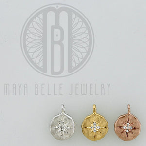Add a Stardust Charm in Silver, Gold, or Rose Gold - Maya Belle Jewelry