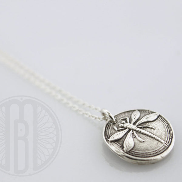 Dragonfly Fingerprint Pendant necklace - Maya Belle Jewelry