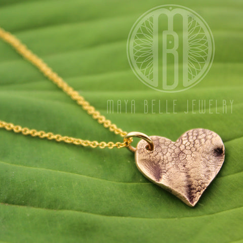 Small Dog Nose (or Paw) Print Pendant Necklace with Choice of Metal and Shape - Maya Belle Jewelry