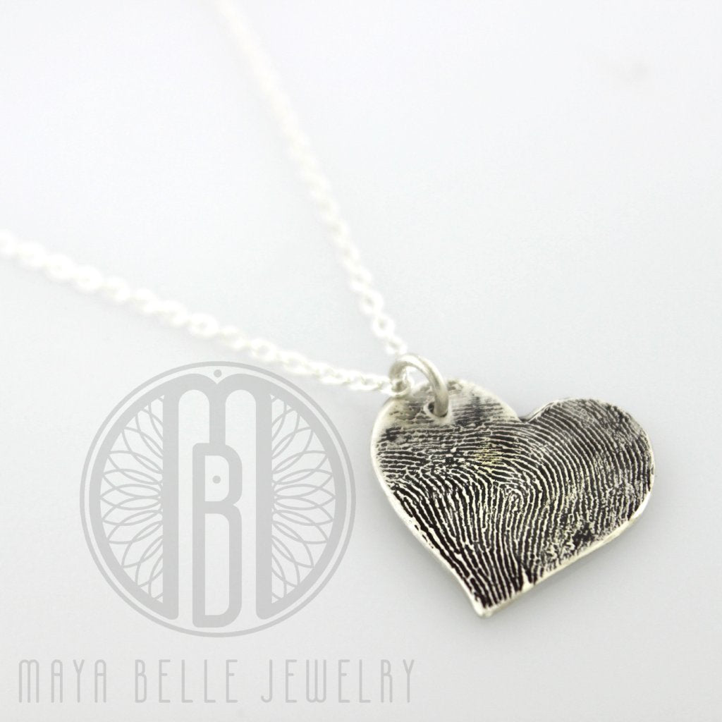 Large Fingerprint Charm in Pure Silver - Maya Belle Jewelry