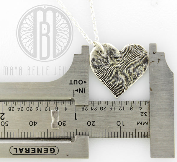 Large Fingerprint Charm Necklace - Maya Belle Jewelry