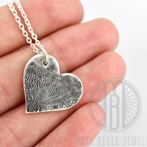 Large Fingerprint Charm Necklace
