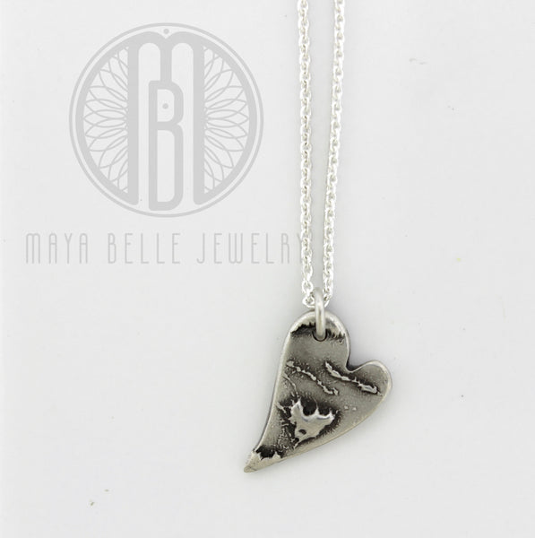 Baby's ZOOMED in handprint or footprint with actual handwriting on the reverse - Maya Belle Jewelry