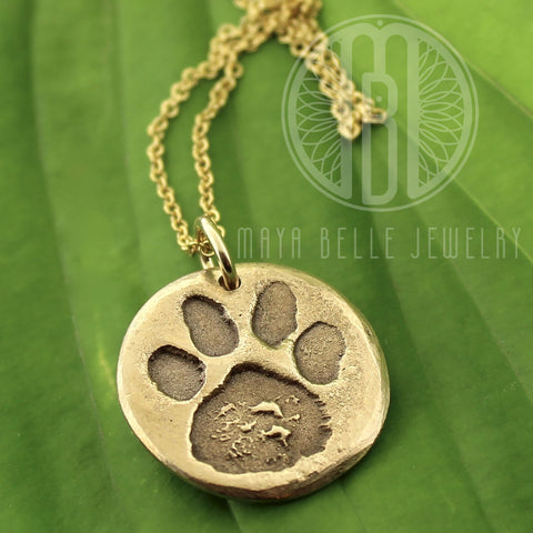 Pet paw print or nose print keepsake • DOGPRINT necklace - Maya Belle Jewelry