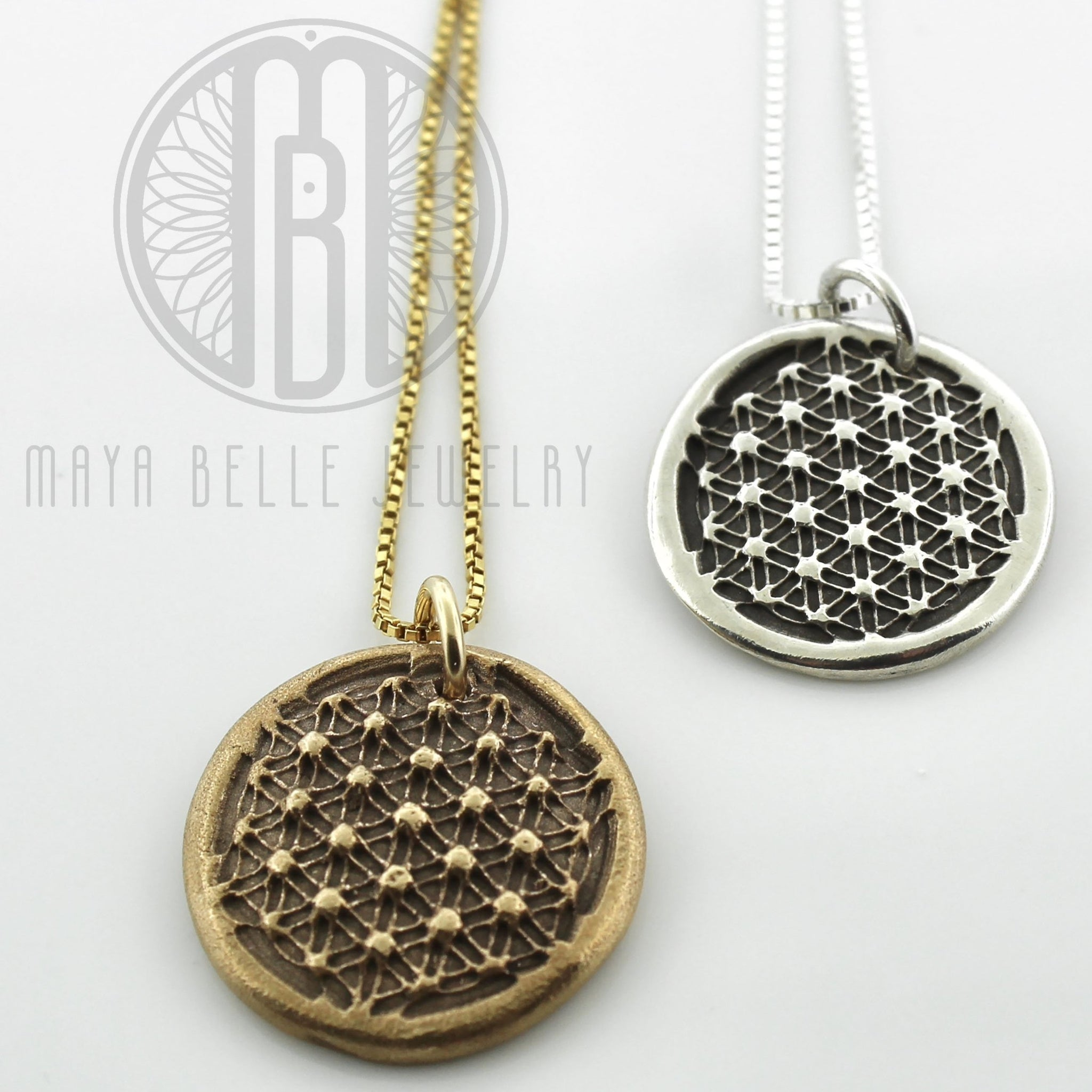 Sacred Geometry pendant • flower of life necklace • special gift - Maya Belle Jewelry