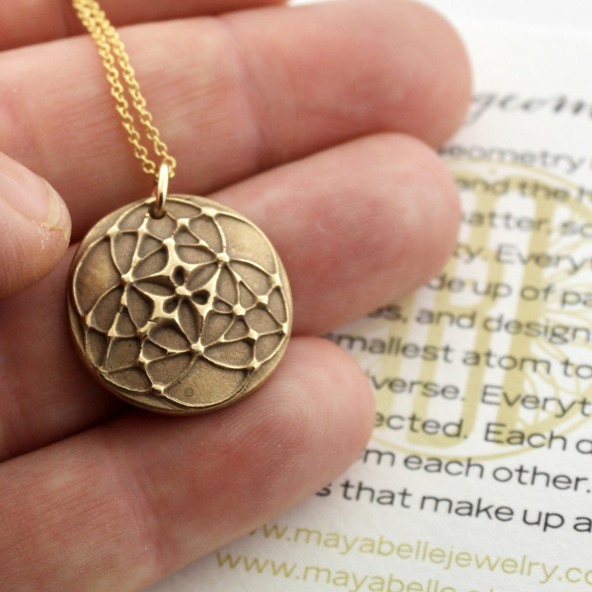 Seed of Life • Sacred Geometry pendant and necklace - Maya Belle Jewelry