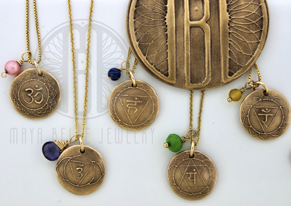 Chakra Collection with healing stones layered jewelry - Maya Belle Jewelry
