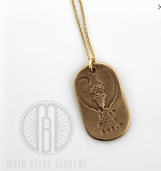 Not Gone Just Gone Ahead memorial keepsake gift - Maya Belle Jewelry