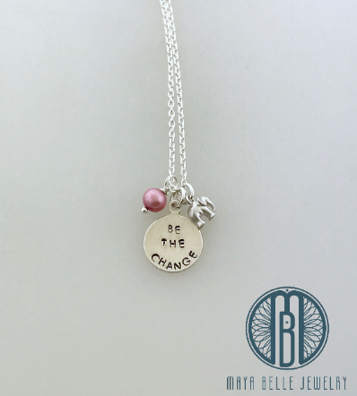 Be the Change Necklace - Maya Belle Jewelry