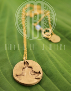 Meditation medallion, Yoga necklace