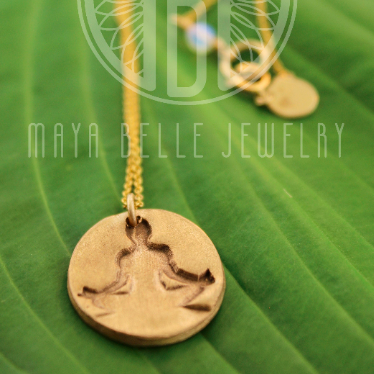 Meditation Medallion Necklace - Maya Belle Jewelry