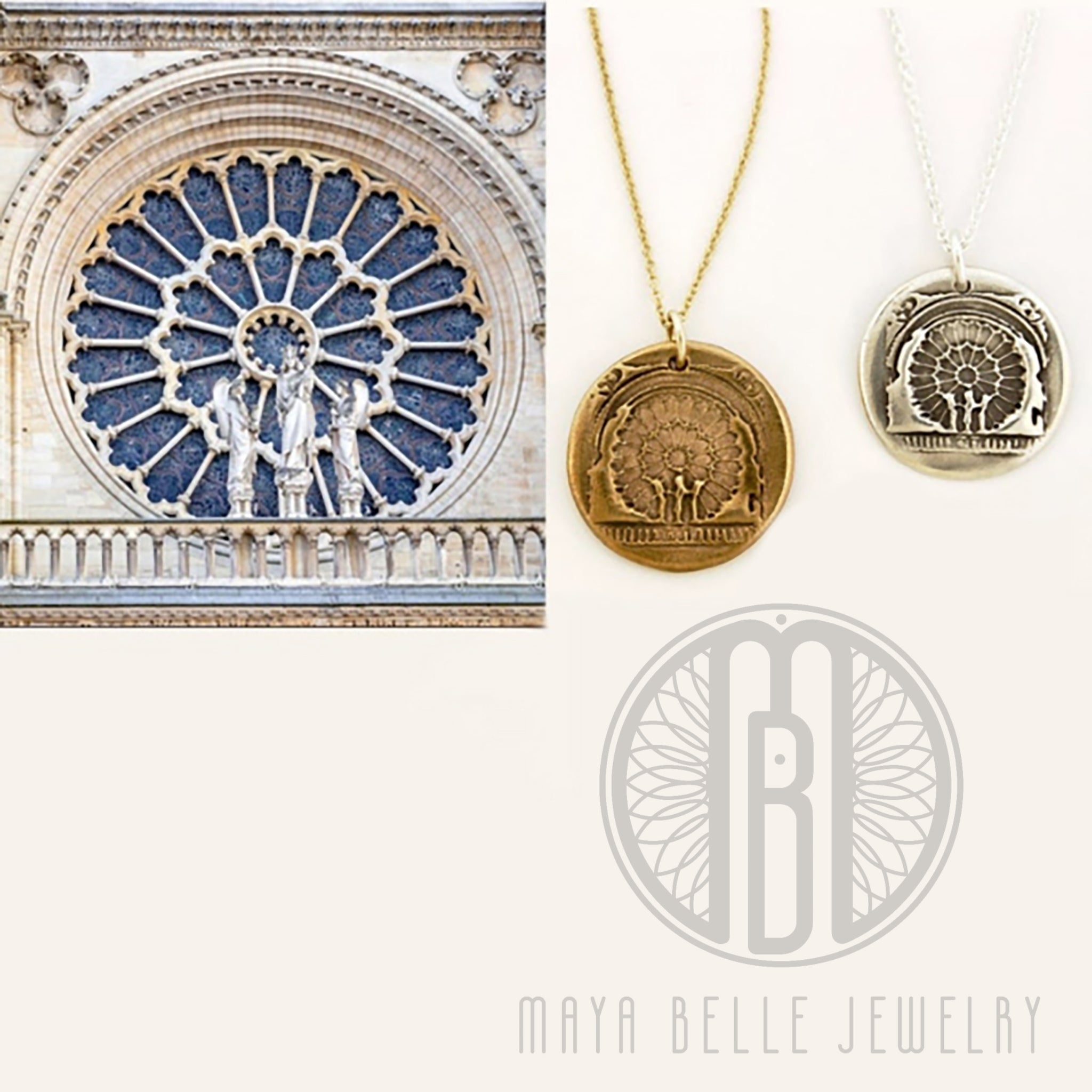 West Rose Window of Notre Dame - Maya Belle Jewelry