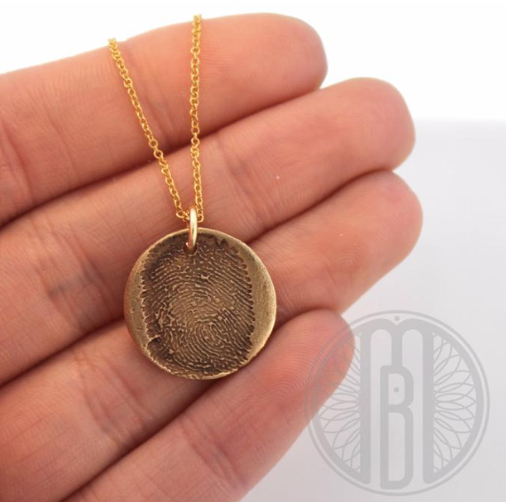 Small Print Pendant Necklace - Maya Belle Jewelry