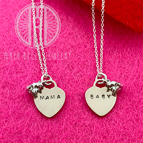 Mama Bear and Baby Bear charm necklaces - Maya Belle Jewelry