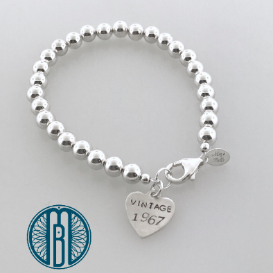 Milestone 50th Birthday Bracelet - Maya Belle Jewelry