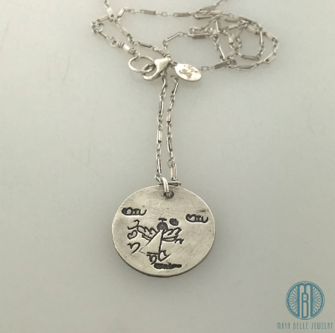 Large Childs Drawing Necklace - Maya Belle Jewelry