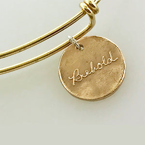 Handwriting Bangle in Bronze - Maya Belle Jewelry