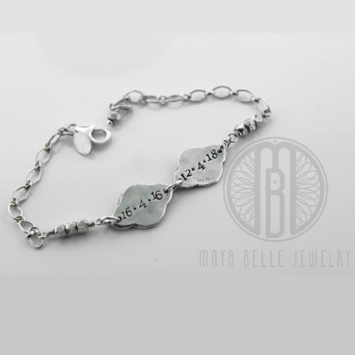 Lotus fingerprint bracelet - Maya Belle Jewelry